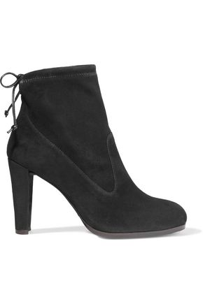 STUART WEITZMAN Glove stretch-suede ankle boots
