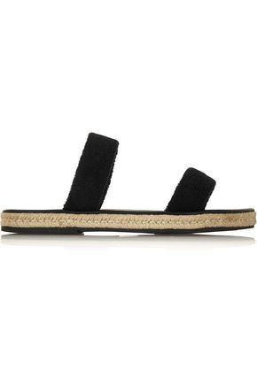 MASLIN & CO Hutton cotton-terry espadrille sandals