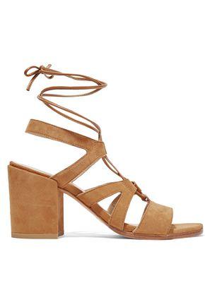 STUART WEITZMAN TieGirlBingo suede sandals