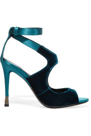 TOM FORD Velvet and satin sandals