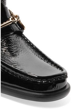 ACNE STUDIOS Kerin patent-leather ankle boots
