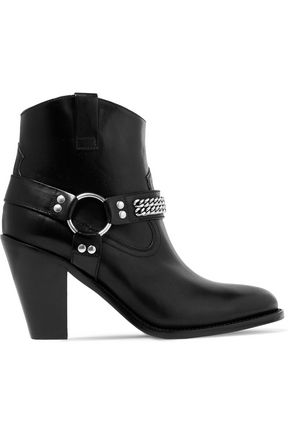 SAINT LAURENT Curtis leather ankle boots