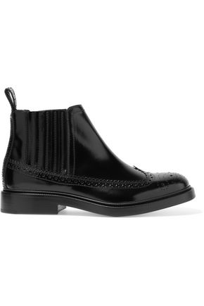 JOSEPH Glossed-leather Chelsea boots
