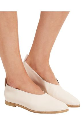 JOSEPH Leather ballet flats