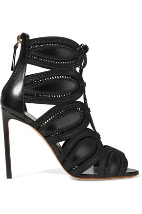 FRANCESCO RUSSO Cutout leather sandals