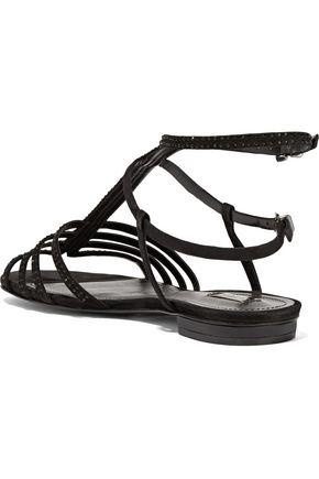 SCHUTZ Embellished suede sandals