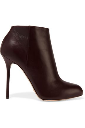 SERGIO ROSSI Leather ankle boots
