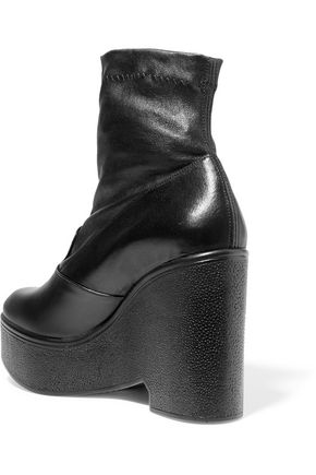... ROBERT CLERGERIE Bilou leather wedge ankle boots