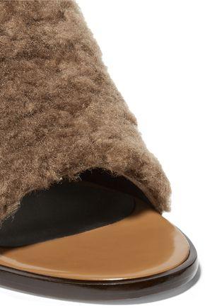 TIBI Boni shearling mules