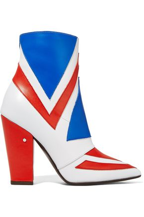 LAURENCE DACADE Bowie paneled leather ankle boots