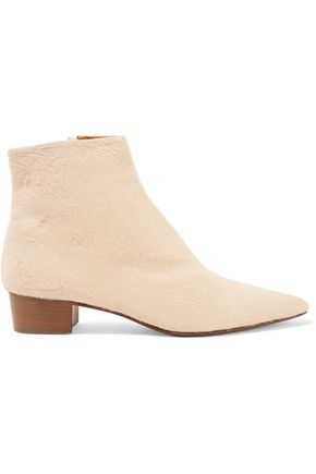 THE ROW Ambra calf hair ankle boots