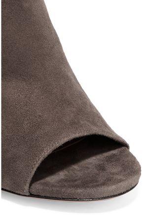AQUAZZURA Fringed suede sandals