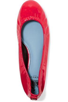 LANVIN Patent-leather ballet flats