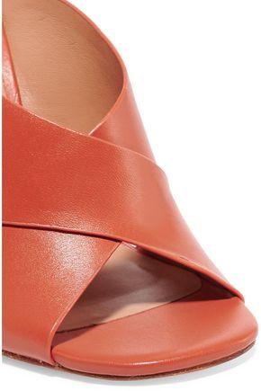 HALSTON HERITAGE Leather mules