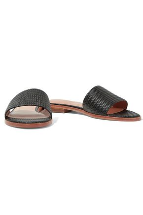 HALSTON HERITAGE Lauren textured-leather sandals