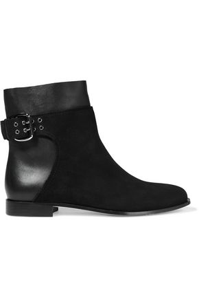 JIMMY CHOO Major suede and leather ankle boots