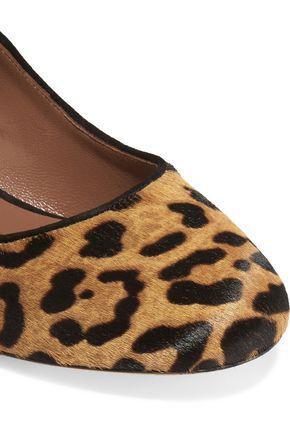 TABITHA SIMMONS Leopard-print calf hair pumps
