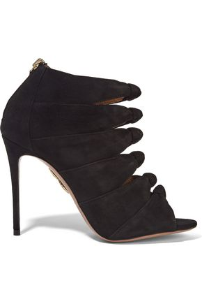 AQUAZZURA Nasiba cutout suede sandals