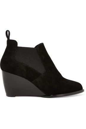 ROBERT CLERGERIE Olav suede wedge ankle boots