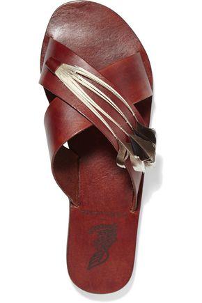 ANCIENT GREEK SANDALS Thais snake-effect leather sandals