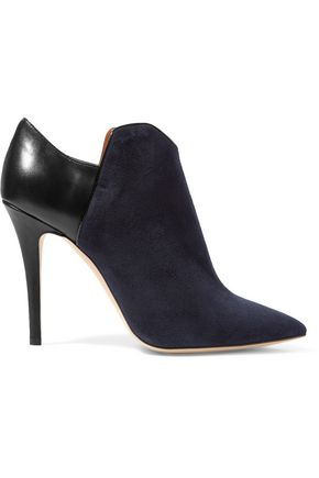 MALONE SOULIERS Frances paneled suede and leather boots