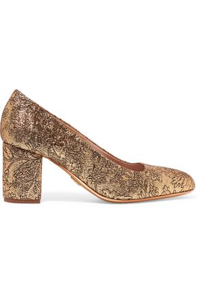 MICHAEL KORS COLLECTION Gigi metallic brocade pumps