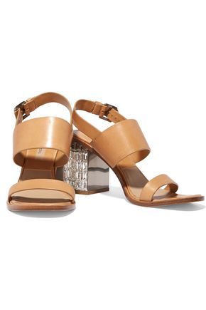 MICHAEL KORS Monica embellished leather sandals