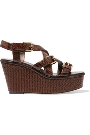 MICHAEL KORS COLLECTION Varick elaphe wedge sandals