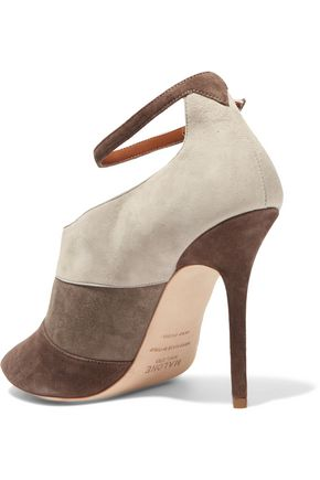 MALONE SOULIERS Sheila color-block suede pumps