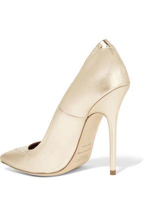 MALONE SOULIERS Emmanuelle metallic leather pumps