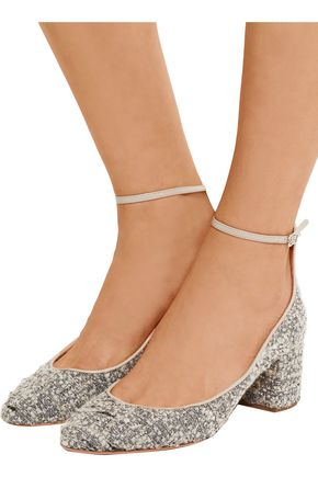 AQUAZZURA Alix bouclé-tweed pumps