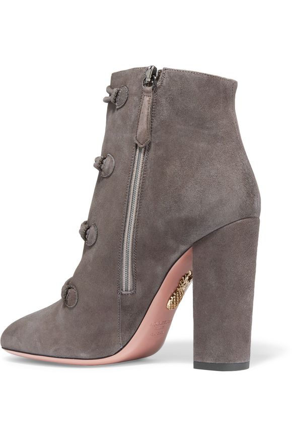 Rasputine embellished suede ankle boots | AQUAZZURA | Sale up to 70% off |  THE OUTNET