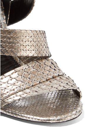 TOM FORD Metallic python sandals