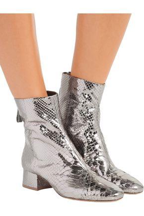 ALEXANDRE BIRMAN Jessie metallic python ankle boots