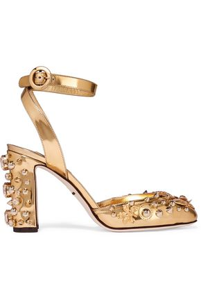 28d5eec7 Embellished metallic leather pumps | DOLCE & GABBANA | Sale up to 70 ...