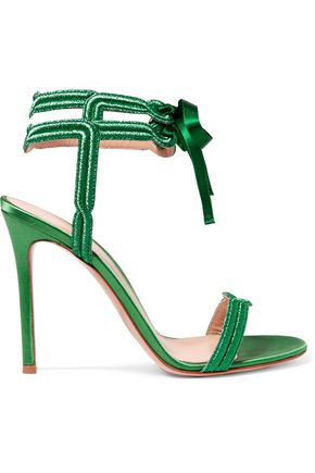 GIANVITO ROSSI Satin and lamé sandals