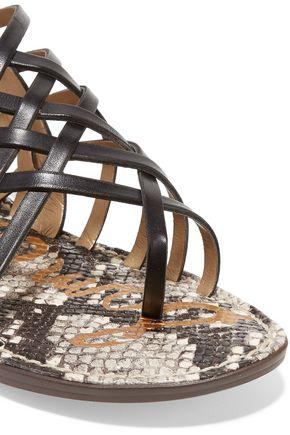 SAM EDELMAN Gardener stud-embellished leather sandals