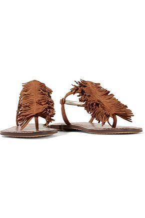 SAM EDELMAN Gela fringed suede sandals