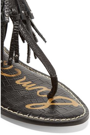 SAM EDELMAN Griffen fringed leather sandals