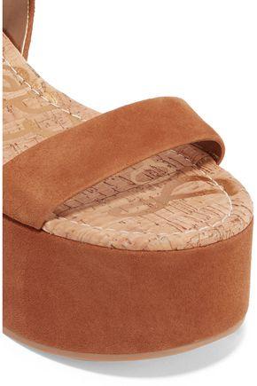 SAM EDELMAN Henley suede platform sandals