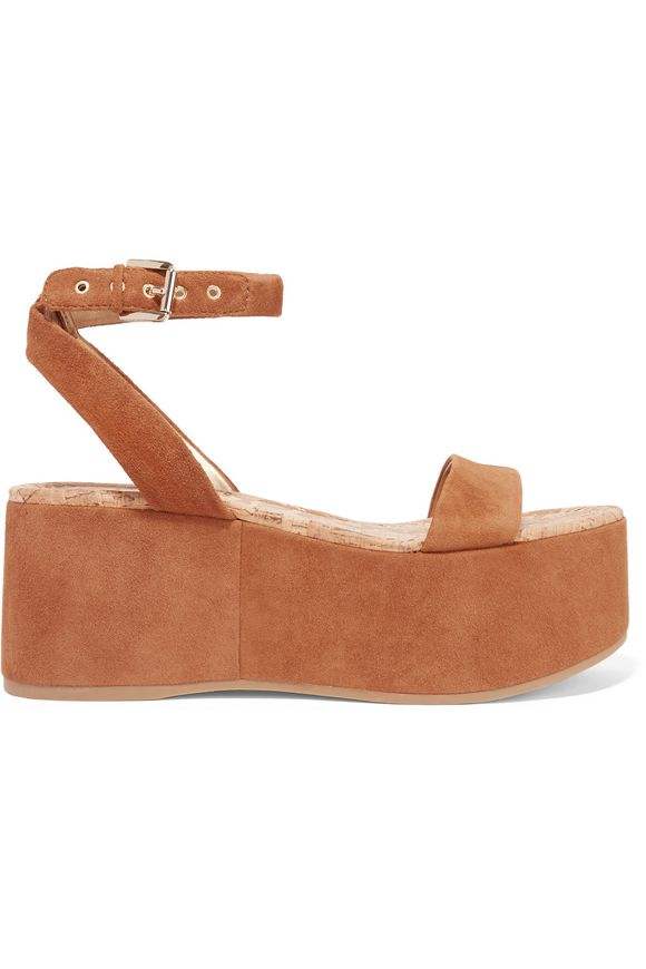 ed1f6b2633f7 Henley suede wedge sandals