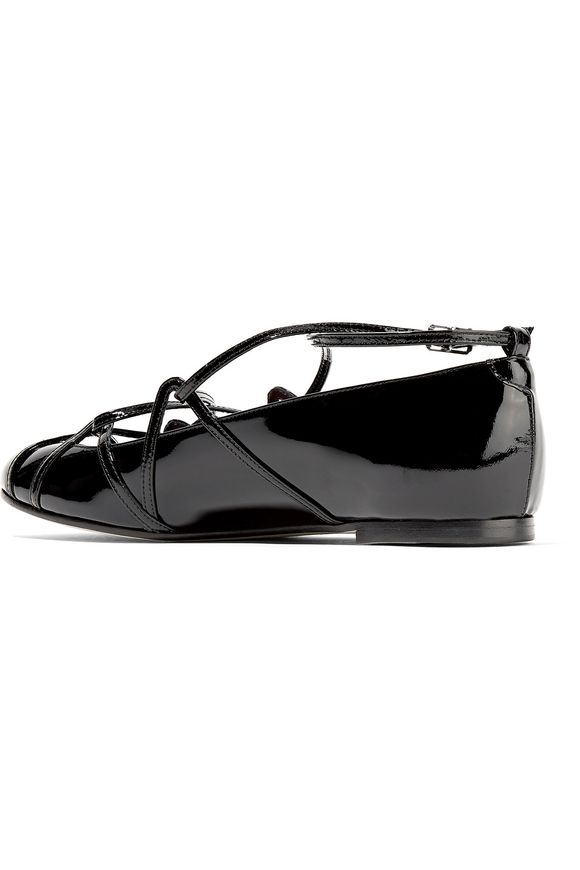 Claudia Ghillie patent-leather ballet flats | MARC JACOBS | Sale up to 70%  off | THE OUTNET