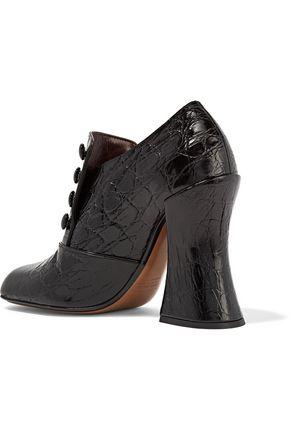 MARC JACOBS Juno croc-effect leather pumps