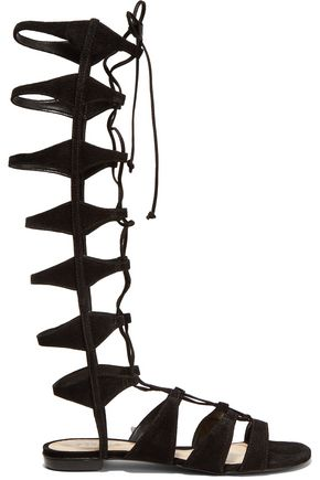 SCHUTZ Shyla lace-up suede gladiator sandals