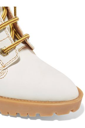 MAISON MARGIELA Leather trimmed nubuck ankle boots