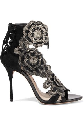 SOPHIA WEBSTER Winona embroidered suede sandals