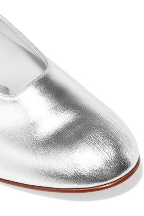 MARTINIANO High Glove metallic leather pumps