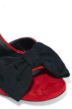 SAINT LAURENT Jane bow-embellished suede sandals
