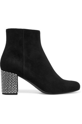 SAINT LAURENT Babies embellished suede ankle boots