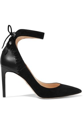 CHELSEA PARIS Medina paneled suede pumps